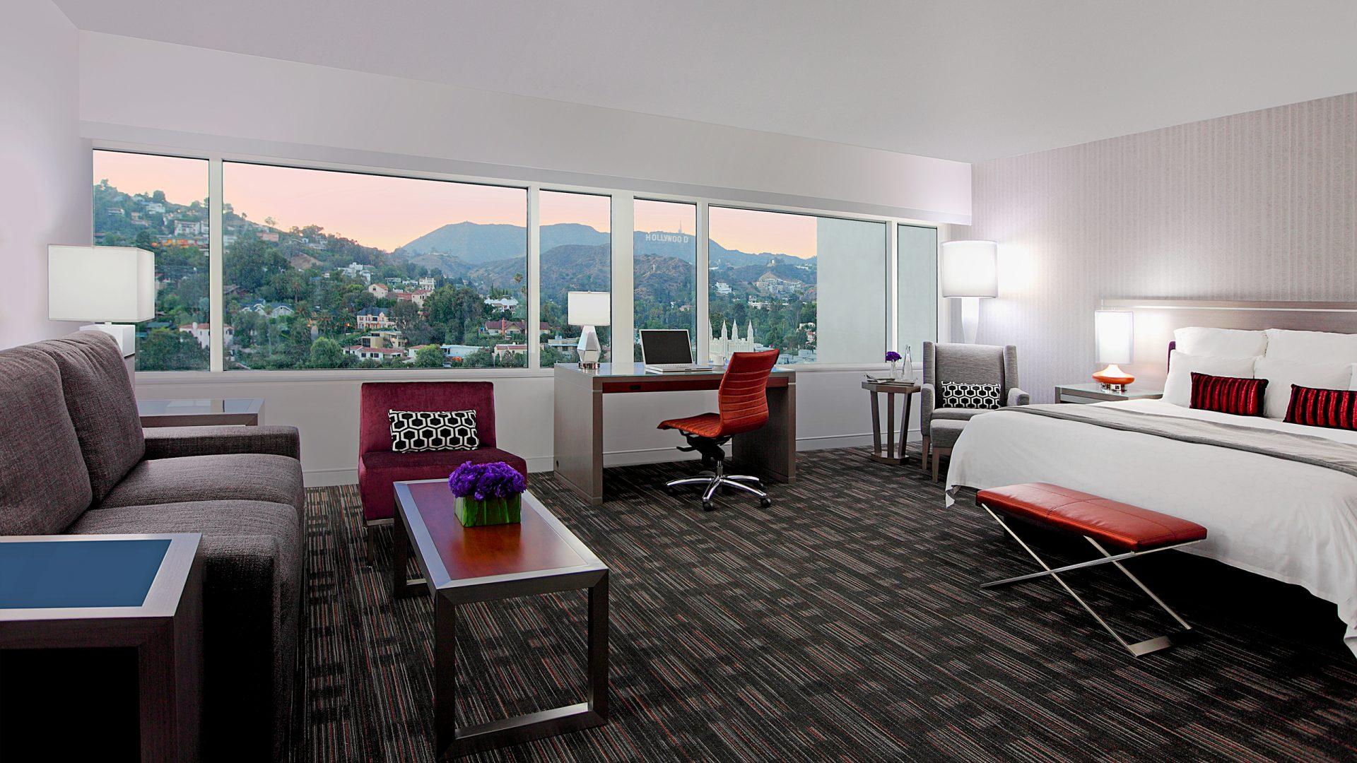 hotel suites in hollywood loews hollywood hotel. Black Bedroom Furniture Sets. Home Design Ideas